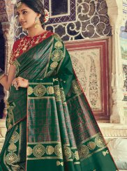 Art Silk Green Designer Traditional Saree