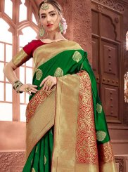 Art Silk Green Traditional Saree