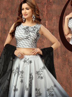 Art Silk Grey Fancy Readymade Lehenga Choli