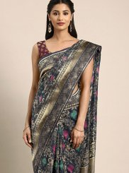 Art Silk Grey Traditional Designer Saree