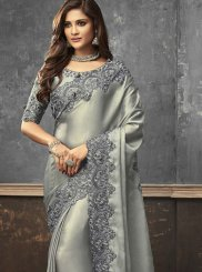 Art Silk Grey Trendy Saree