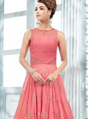 Art Silk Handwork Designer Gown
