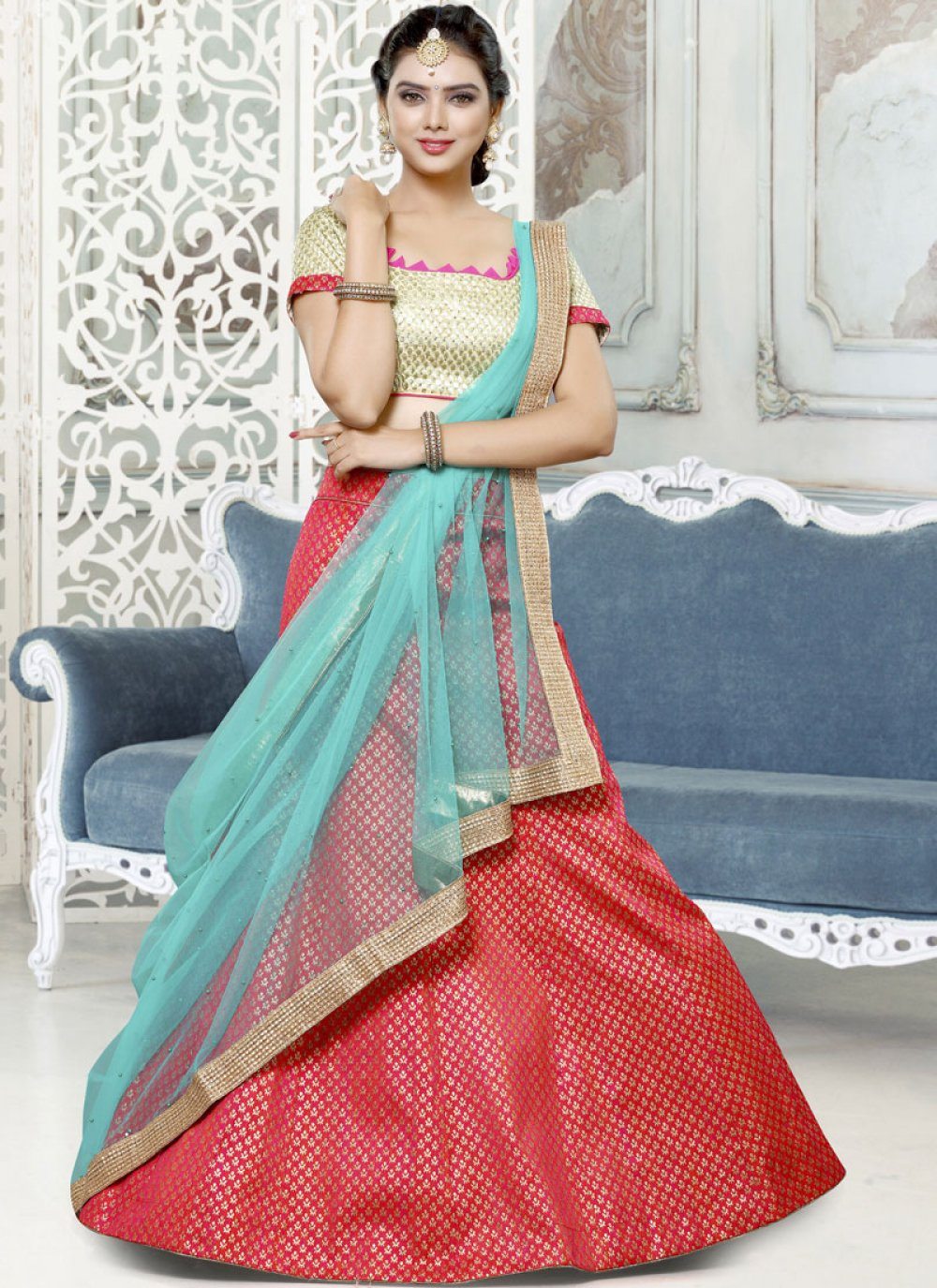 Art Silk Lace Lehenga Choli