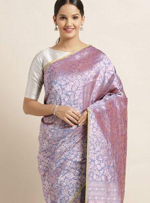 Art Silk Lavender Silk Saree