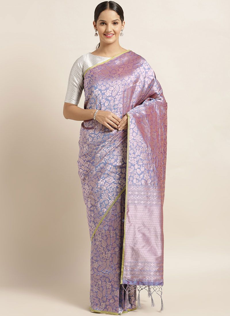 Art Silk Lavender Silk Saree