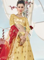 Art Silk Lehenga Choli in Beige