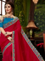 Art Silk Maroon Designer Traditional Saree