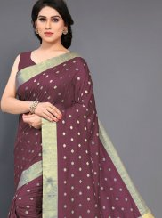 Art Silk Maroon Traditional Designer Saree