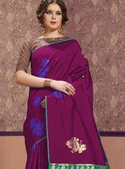 Art Silk Mehndi Classic Designer Saree