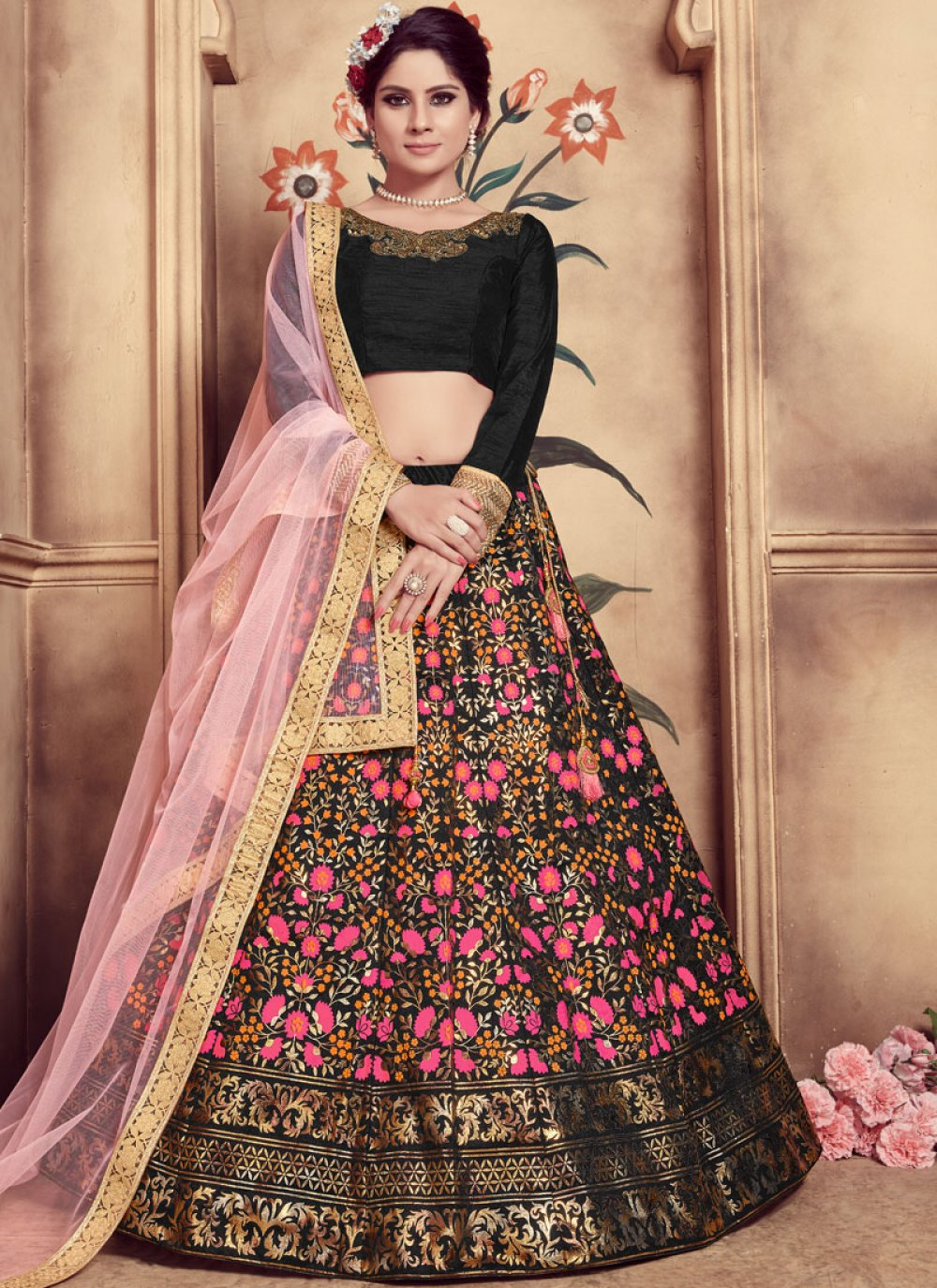 Art Silk Mehndi Trendy Lehenga Choli