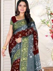 Art Silk Multi Colour Bandhej Casual Saree