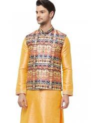 Art Silk Multi Colour Nehru Jackets
