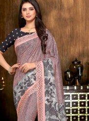 Art Silk Multi Colour Printed Saree