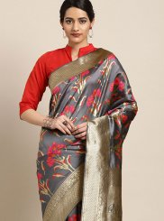 Art Silk Multi Colour Traditional Saree