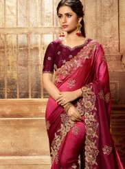 Art Silk Patch Border Shaded Saree