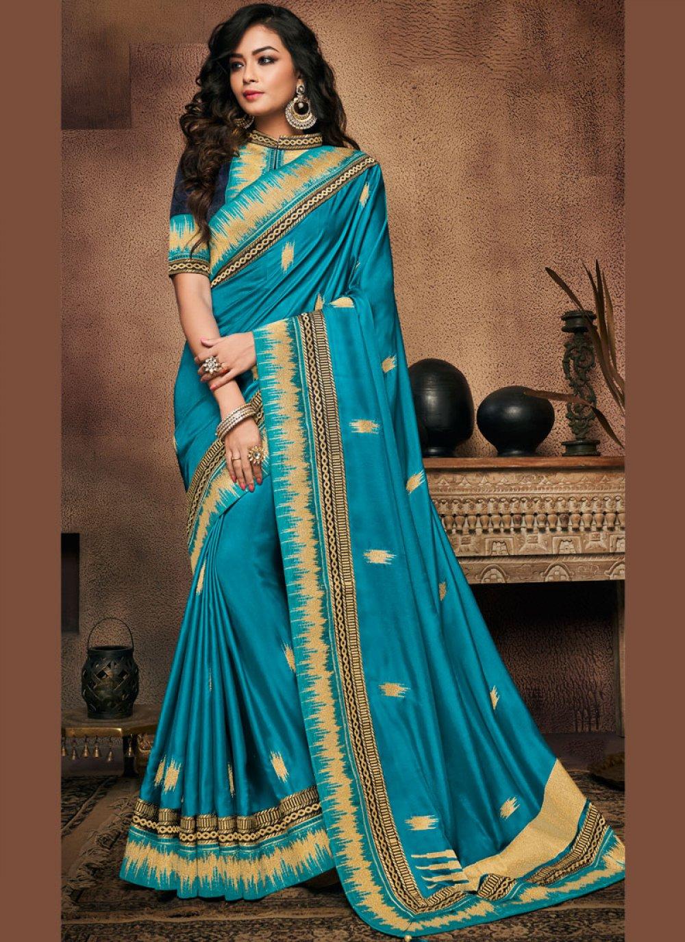 Art Silk Patch Border Traditional Designer Saree
