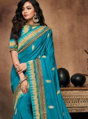 Art Silk Patch Border Traditional Designer Saree