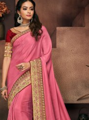 Art Silk Patch Border Traditional Saree