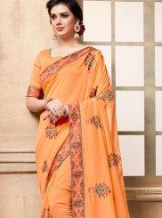 Art Silk Peach Traditional Saree