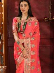Art Silk Pink Classic Saree
