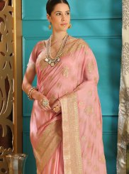 Art Silk Pink Designer Saree