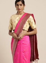Art Silk Pink Designer Traditional Saree