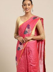 Art Silk Pink Traditional Saree