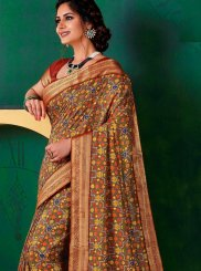 Art Silk Print Multi Colour Designer Traditional Saree