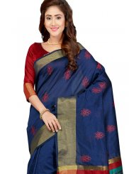 Art Silk Print Traditional Saree