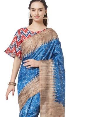 Art Silk Printed Casual Saree