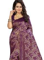 Art Silk Purple Traditional Saree