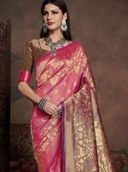 Art Silk Purple Weaving Casual Saree