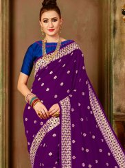 Art Silk Purple Weaving Traditional Designer Saree