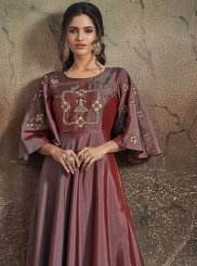 Art Silk Readymade Designer Gown