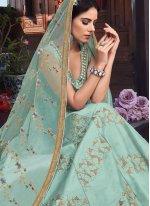 Art Silk Reception Floor Length Anarkali Suit