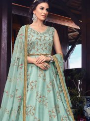Art Silk Reception Floor Length Anarkali Suit