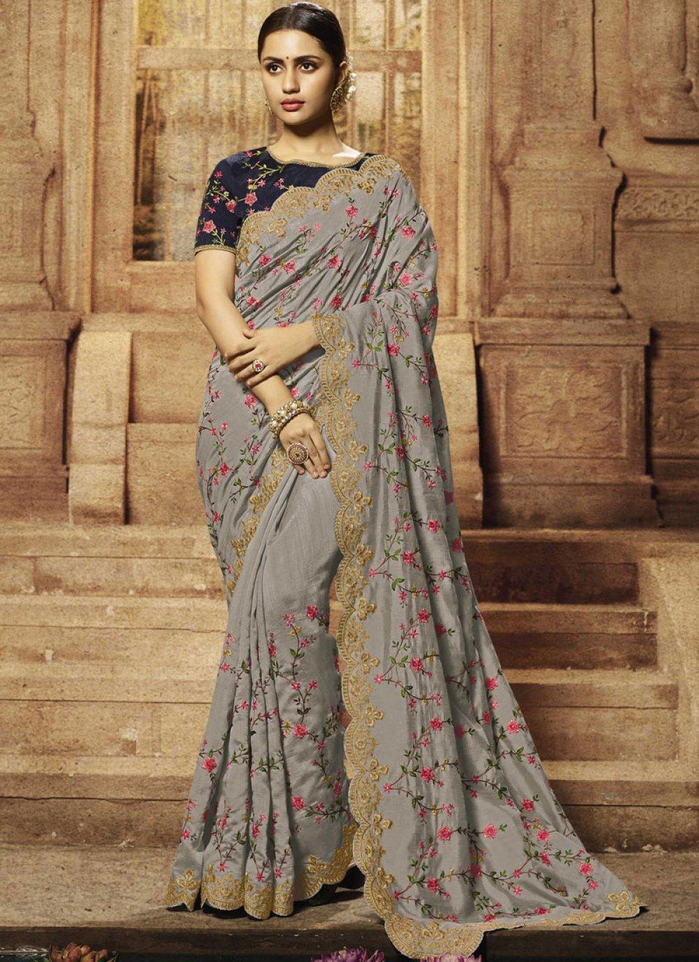Art Silk Reception Traditional Saree