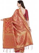 Art Silk Red Designer Traditional Saree