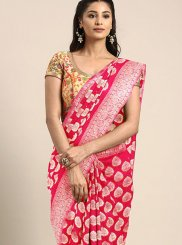 Art Silk Red Weaving Traditional Saree