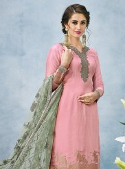 Art Silk Resham Designer Pakistani Suit