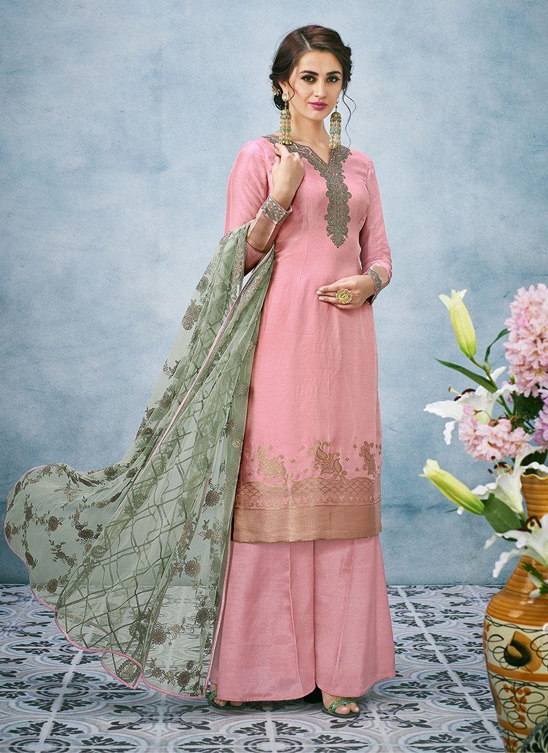 Art Silk Resham Designer Pakistani Suit