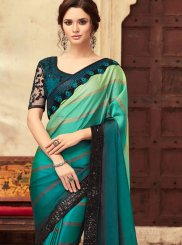 Art Silk Resham Green Shaded Saree