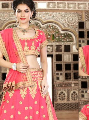 Art Silk Resham Work Lehenga Choli
