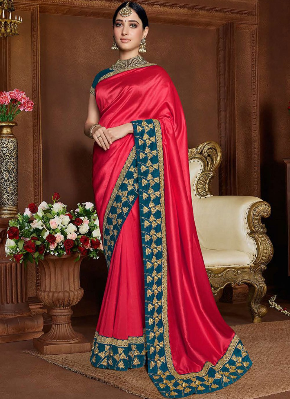 Art Silk Sangeet Designer Saree