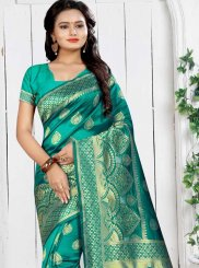 Art Silk Sea Green Designer Traditional Saree
