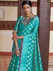 Art Silk Sea Green Weaving Designer Traditional Saree