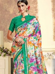Art Silk Silk Saree in Green