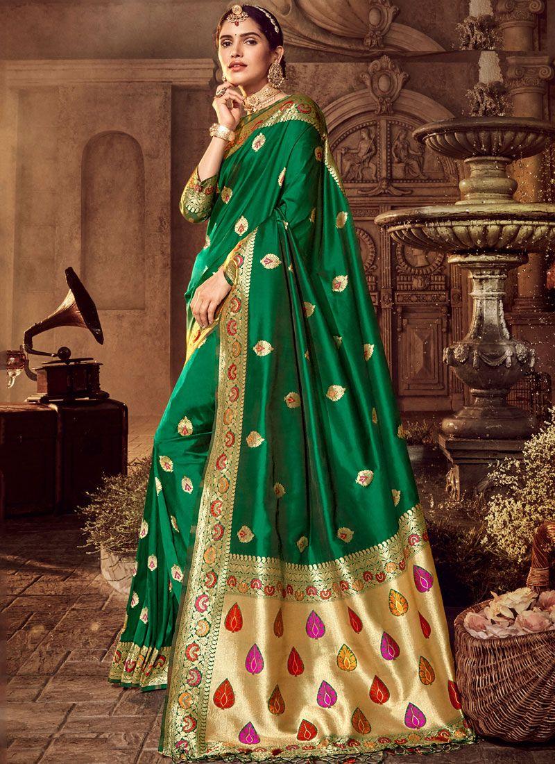 Art Silk Stone Work Classic Designer Saree