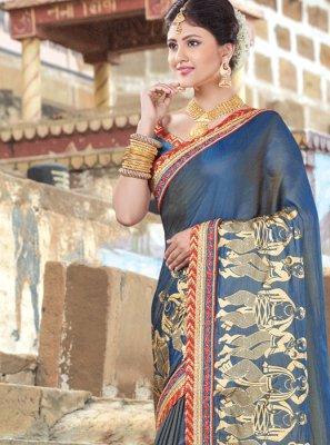 Art Silk Thread Work Traditional  Saree