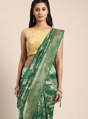 Art Silk Traditional Designer Saree in Green